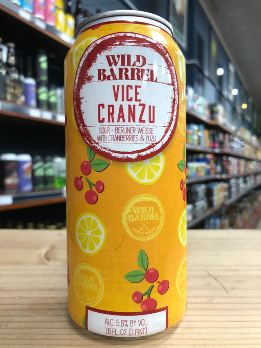 Wild Barrel Vice CranZu 473ml Can