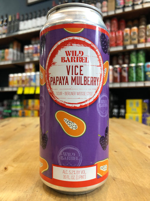 Wild Barrel Vice w/ Papaya Mulberry 473ml Can