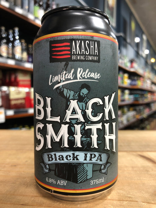 Akasha Blacksmith Black IPA 375ml Can