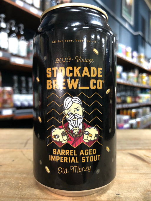 Stockade Old Money Barrel-Aged Imperial Stout 375ml Can