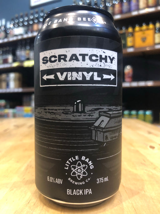 Little Bang Scratchy Vinyl Black IPA 375ml Can