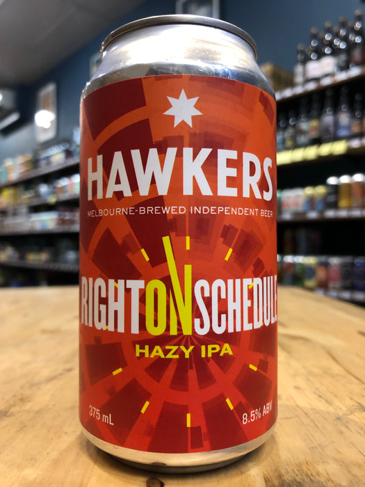 Hawkers Right On Schedule Hazy IPA 375ml Can