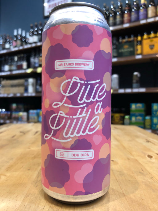 Mr Banks Live A Little: DDH Hazy Double IPA 500ml Can