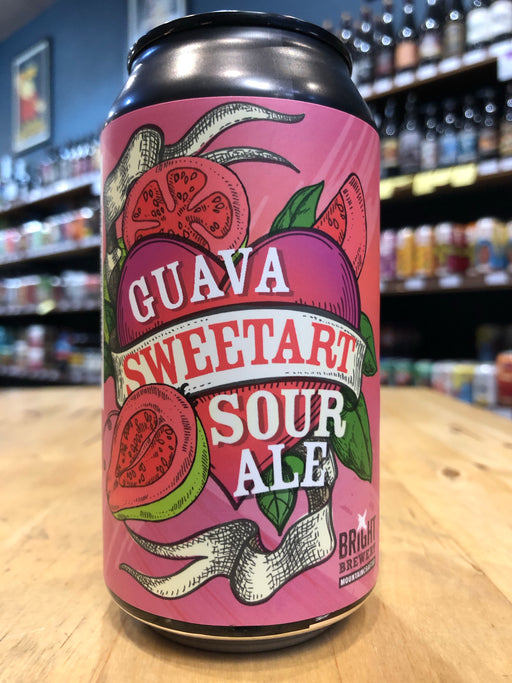 Bright Brewery Guava Sweetart Sour Ale 375ml Can