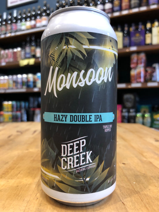 Deep Creek Monsoon Double Hazy IPA 440ml Can