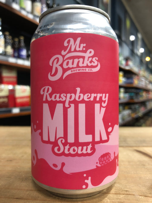 Mr Banks Raspberry Milk Stout 355ml Can