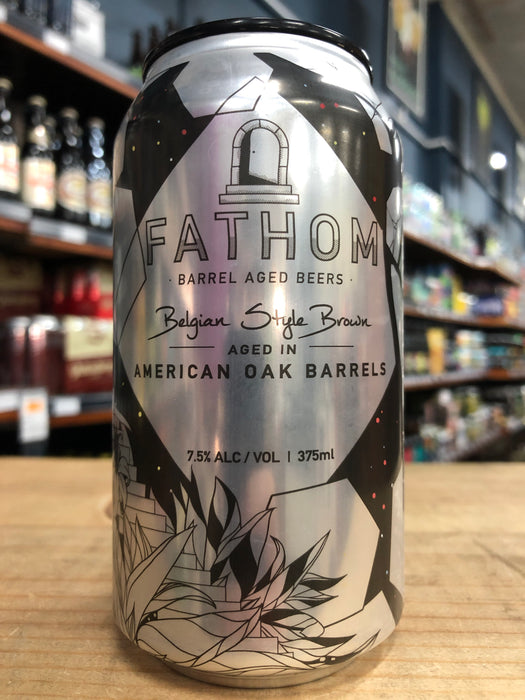 Green Beacon Fathom Belgian Style Brown 375ml Can