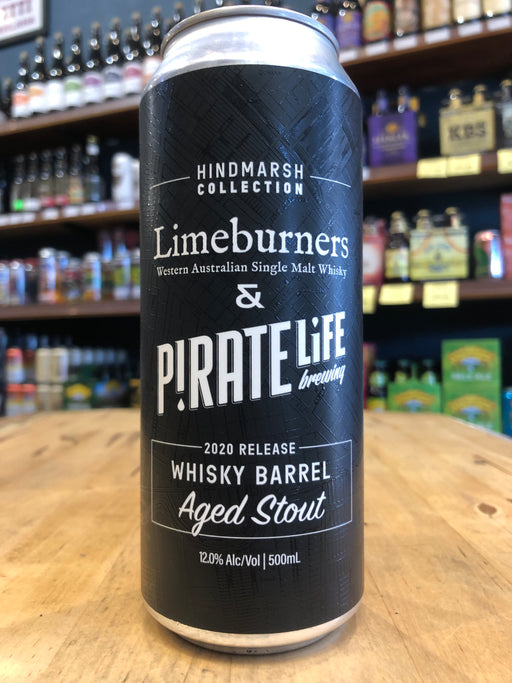 Pirate Life & Limeburners Whisky Barrel Aged Stout 2020 500ml Can