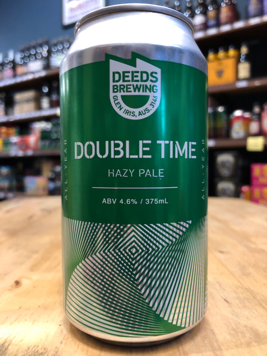 Deeds Double Time Hazy Pale 375ml Can