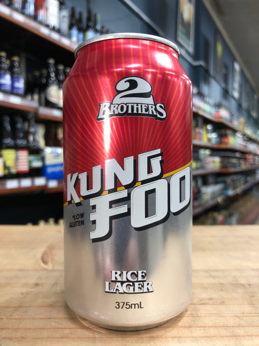 2 Brothers Kung Foo Rice Lager 375ml Can