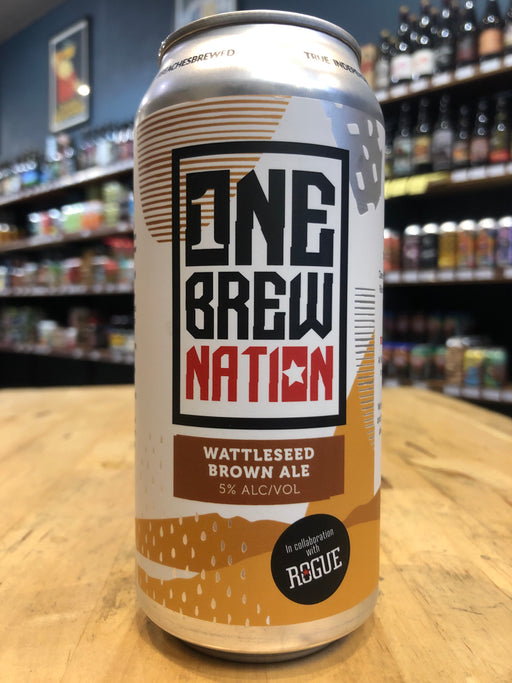 One Brew Nation Wattleseed Brown 440ml Can