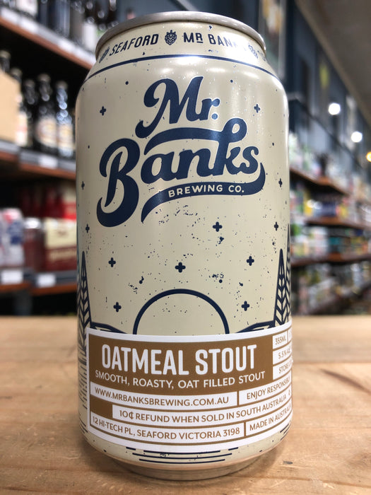 Mr Banks Oatmeal Stout 355ml Can