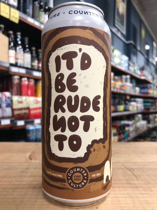 Stone & Wood Counter Culture - It'd Be Rude Not To - French Toast Stout 500ml Can