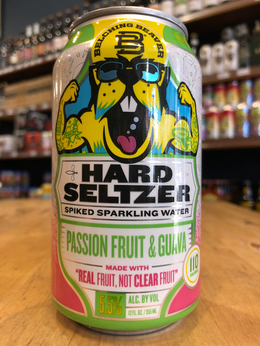 Belching Beaver Passion Fruit & Guava Hard Seltzer 355ml Can