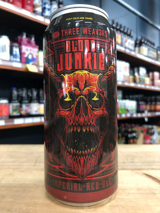 Three Weavers Blood Junkie Imperial Red Ale 473ml Can