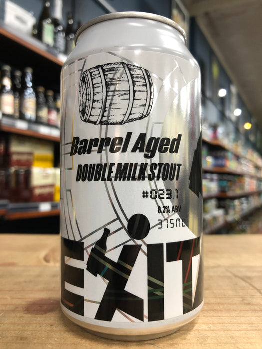 Exit PX Barrel Aged Double Milk Stout 375ml Can
