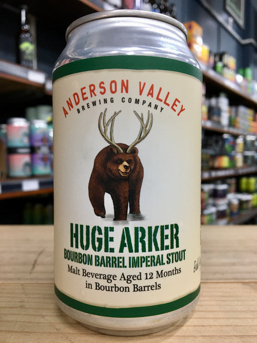 Anderson Valley Huge Arker Bourbon Barrel Imperial Stout 355ml Can