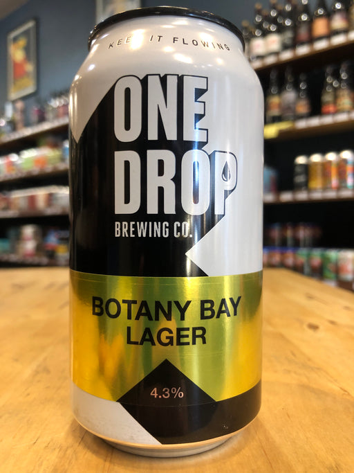 One Drop Botany Bay Lager 375ml Can