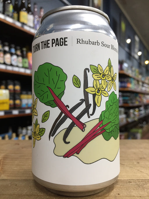 Hop Nation Turn The Page Rhubarb Sour 375ml Can