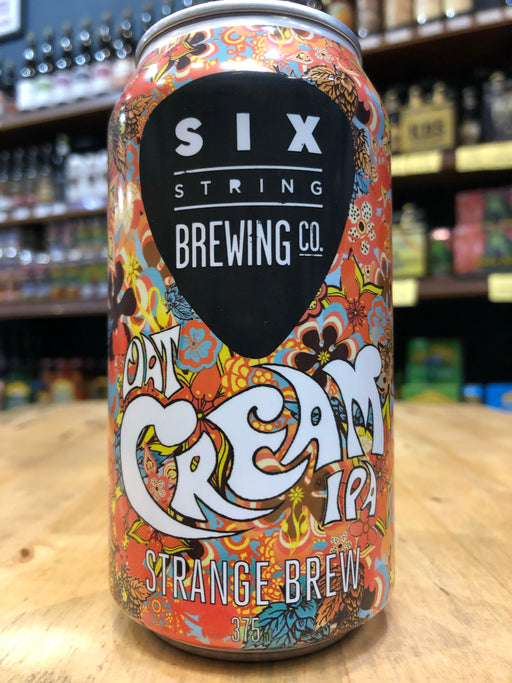 Six String Strange Brew Oat Cream IPA 375ml Can