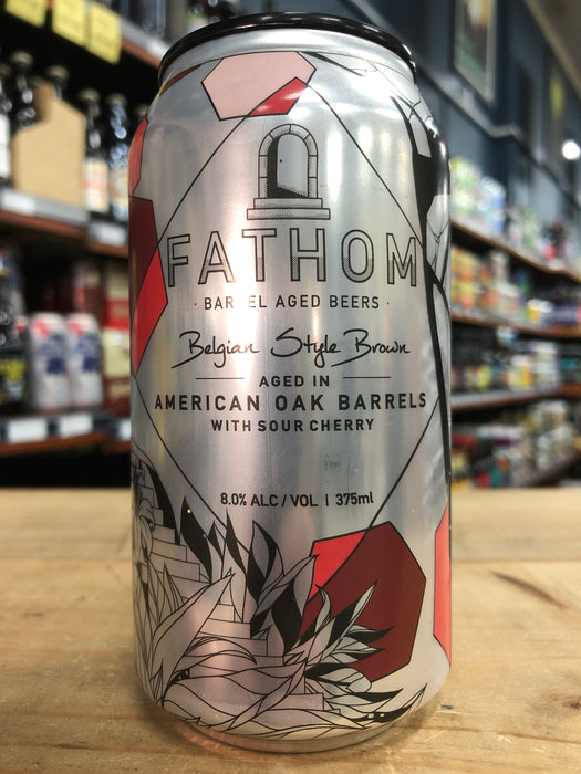 Green Beacon Fathom Belgian Style Brown with Sour Cherry 375ml Can