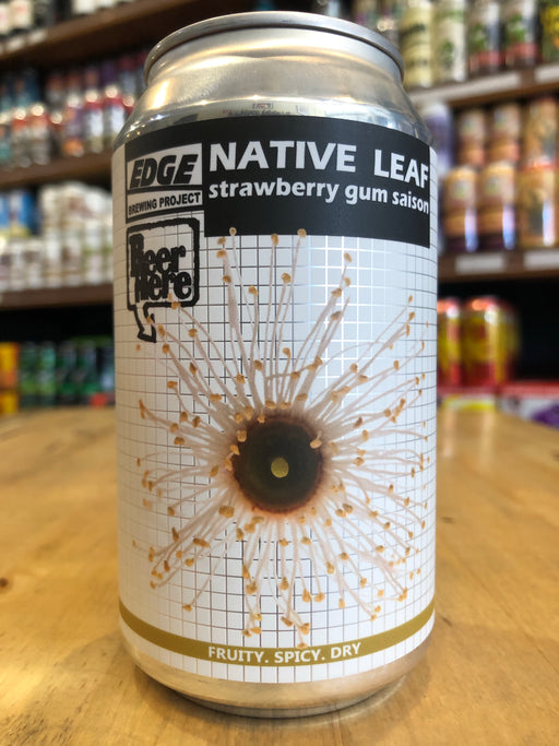 Edge Native Leaf Strawberry Gum Saison 355ml Can