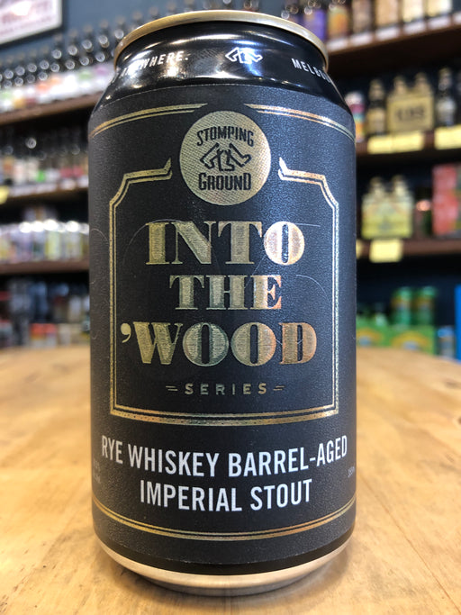 Stomping Ground Into the Wood: Rye Whiskey Barrel-Aged Imperial Stout 355ml Can