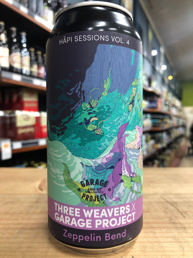 Garage Project Zeppelin Bend - Hāpi Session Vol 4: Three Weavers 440ml Can - [Limit 1 per customer]