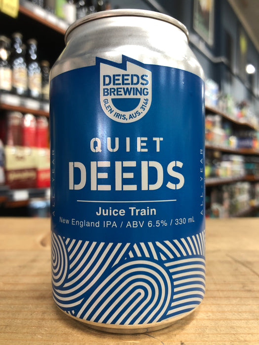 Quiet Deeds Juice Train NEIPA 375ml Can