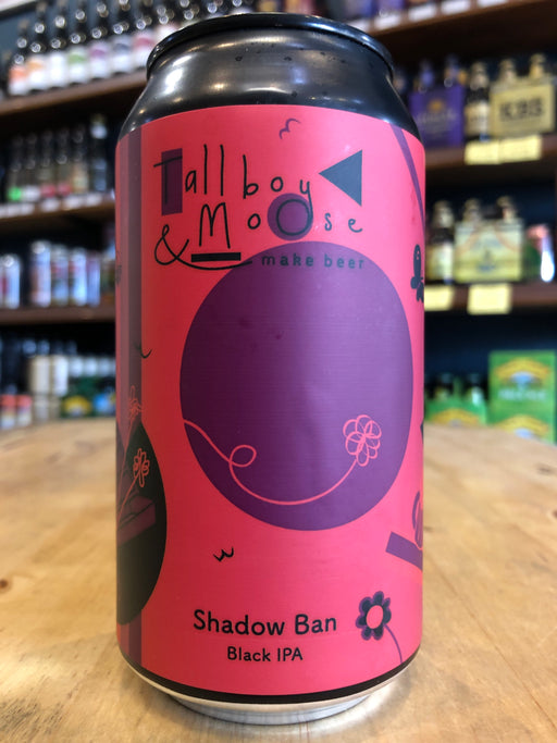 Tallboy & Moose Shadow Ban Black IPA 375ml Can