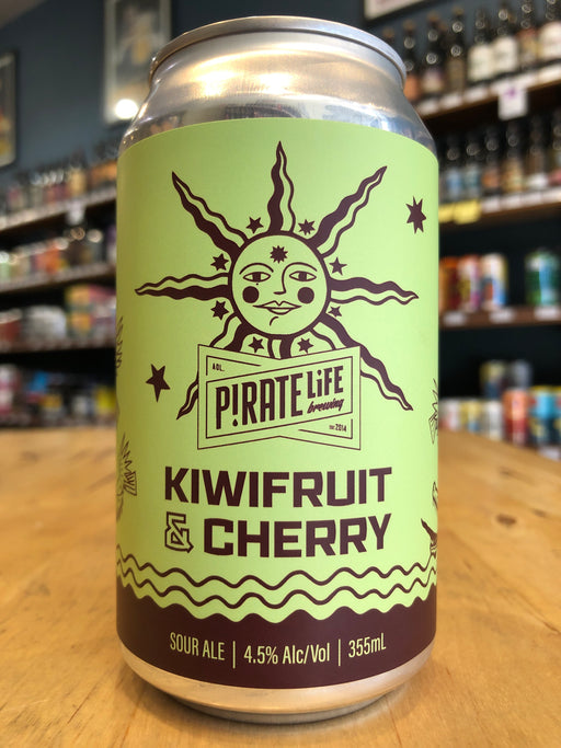 Pirate Life Kiwifruit & Cherry 355ml Can