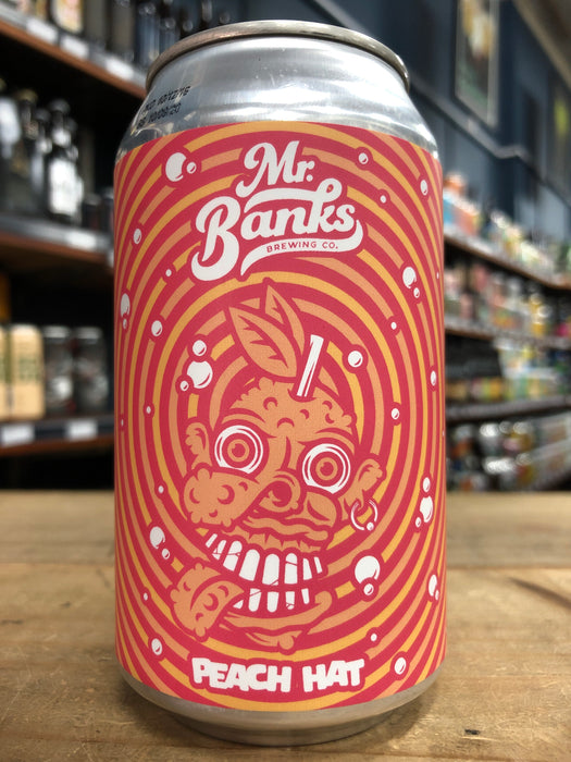 Mr Banks Peach Hat Cream Sour 355ml Can
