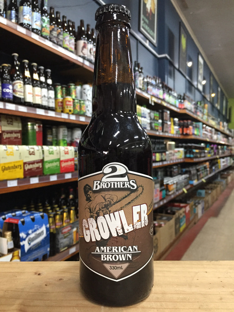 2 Brothers Growler Brown Ale 330ml