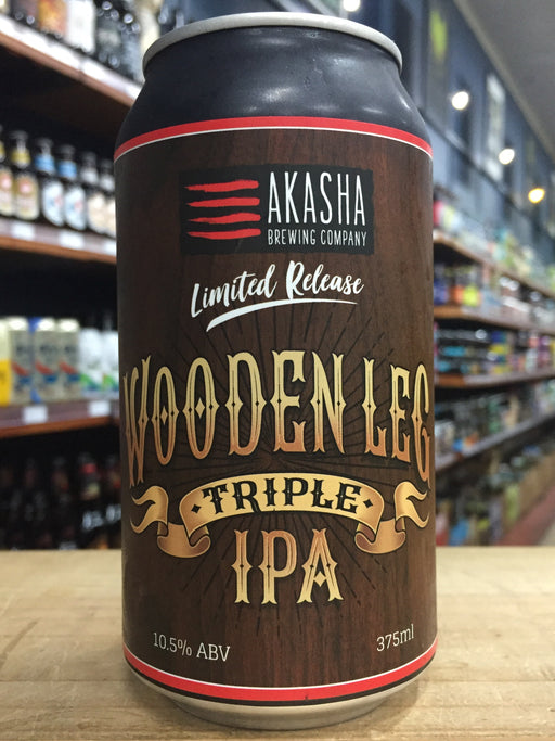 Akasha Wooden Leg Triple IPA 375ml Can