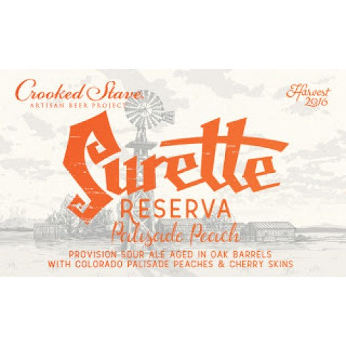 Crooked Stave Surette Reserva Palisade Peach 750ml - Purvis Beer