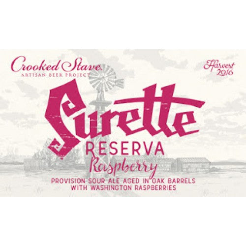 Crooked Stave Surette Reserva Raspberry 750ml - Purvis Beer