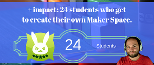 April Donation - Student Maker Space - 24 Students Reached