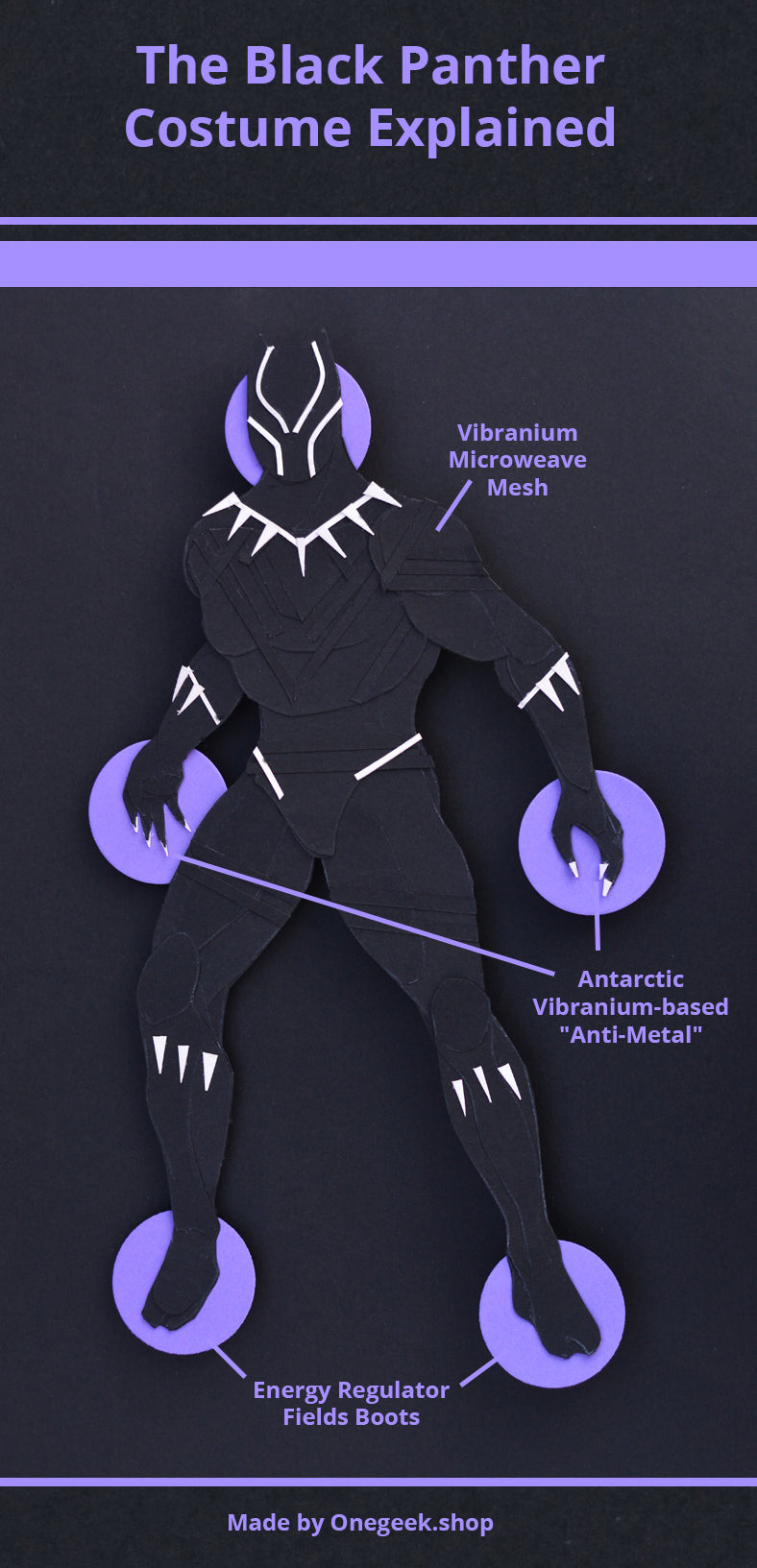 The Black Panther Costume/Suit Infographic