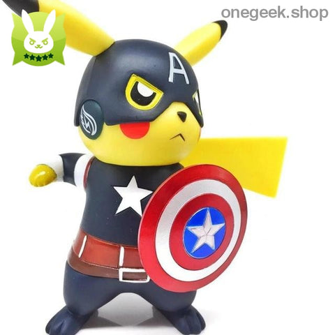 Buy Funny Pikachu Cosplay Captain America Model Toy Best Anime Toys
