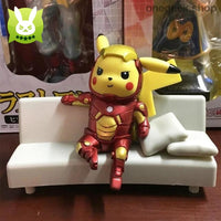 Buy Funny Pikachu Cosplay Iron Man Statue Best Anime Toys
