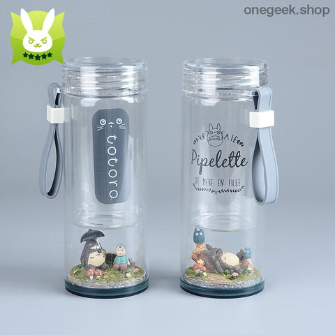 Buy My Neighbor Totoro Landscape Inspired Portable Glass Water Bottle Best Anime Toys - water bottle