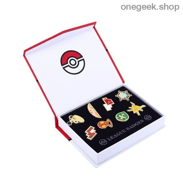 Buy Pokemon Gym Badges: Kanto Johto Hoenn Sinnoh Unova Kalos - 8pcs Set League Region Pins Brooches Best Anime Toys - Kalos - badge