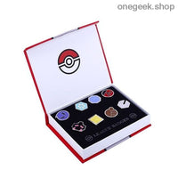 Buy Pokemon Gym Badges: Kanto Johto Hoenn Sinnoh Unova Kalos - 8pcs Set League Region Pins Brooches Best Anime Toys - Johto - badge