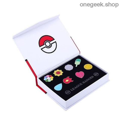 Buy Pokemon Gym Badges: Kanto Johto Hoenn Sinnoh Unova Kalos - 8pcs Set League Region Pins Brooches Best Anime Toys - Kanto - badge