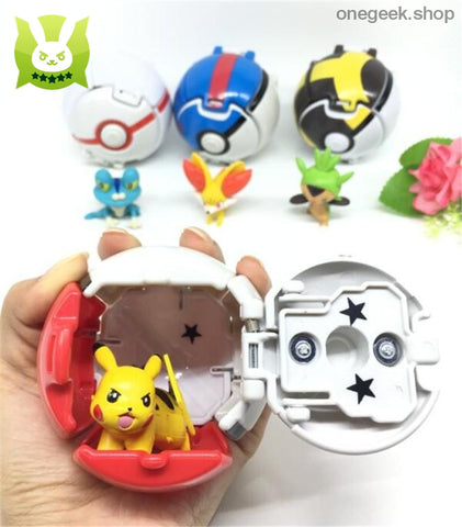 Buy Pokémon Throw N Pop Poké Balls Toys - Pikachu Meow Popplio Hoopa Best Anime Toys - figure