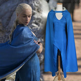 Mother Of Dragons Daenerys Targaryen Blue Cosplay Dress - Game Of Thrones Costume - clothes