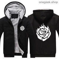 RWBY Hoodie - Get the Rose Schnee Belladonna Symbols on These Awesome Hoodies - black 1 / S - clothes