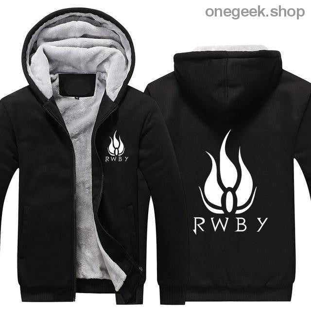 RWBY Hoodie - Get the Rose Schnee Belladonna Symbols on These Awesome Hoodies - black / S - clothes