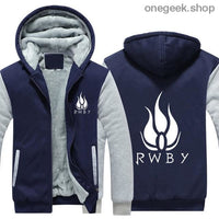 RWBY Hoodie - Get the Rose Schnee Belladonna Symbols on These Awesome Hoodies - dark blue 2 / S - clothes