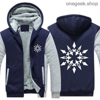RWBY Hoodie - Get the Rose Schnee Belladonna Symbols on These Awesome Hoodies - dark blue / S - clothes